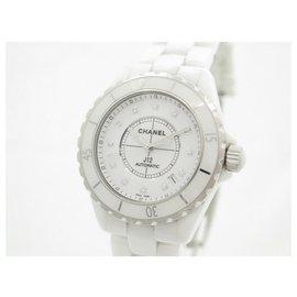 Chanel-CHANEL J WOMEN WATCH12 H1629 DIAMONDS AUTOMATIC WHITE CERAMIC BOX-White