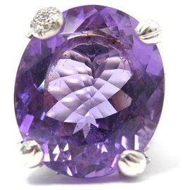 Dior-DIOR MISS DIOR GM T RING51 LE BAL COLLECTION IN WHITE GOLD DIAMONDS AND AMETHYST-Silvery