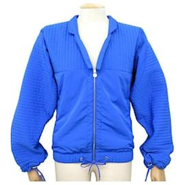 Chanel-NEW CHANEL JACKET DOWN JACKET P52913 S 34 PUFFY JACKET QUILTED-Blue