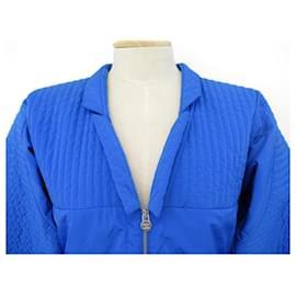 Chanel-NEUF MANTEAU CHANEL BLOUSON DOUDOUNE P52913 S 34 MATELASSE PUFFY JACKET-Bleu