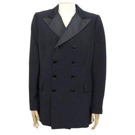 Ralph Lauren-NEW RALPH LAUREN COLLECTION T JACKET10 US 42 FR L IN BLACK VISCOSE JACKET-Black