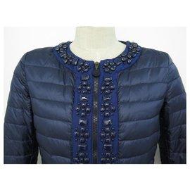 Moncler-MANTEAU MONCLER DOUDOUNE CECILE 510934538450 53048 1 38 M BLEU VESTE COAT-Bleu
