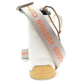 Louis Vuitton-SAC BANDOULIERE LOUIS VUITTON CUP M80642 PORTE GOURDE BOUTEILLE CANETTE TOILE-Blanc