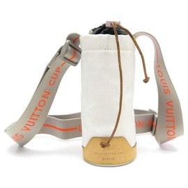 Louis Vuitton-LOUIS VUITTON CUP M CROSSBODY BAG80642 CANVAS BOTTLE BOTTLE HOLDER-White