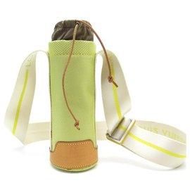 Louis Vuitton-SAC BANDOULIERE LOUIS VUITTON CUP M80642 PORTE GOURDE BOUTEILLE CANETTE VERT-Vert