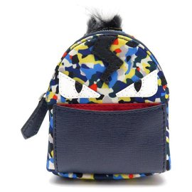 Fendi-NEW FENDI CHARM CHARM MINI ZAINO MONSTER BAG JEWEL 7AR432 Key ring-Multiple colors