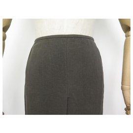 Hermès-NEW HERMES MARTIN MARGIELA S SKIRT 34 BROWN LINEN NEW BROWN LINEN SKIRT-Brown