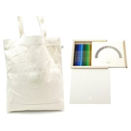 Rolex-NEW BOX OF 24 ROLEX WATCH COLORED PENCILS + TOTE BAG DRAWING BOOK-Beige