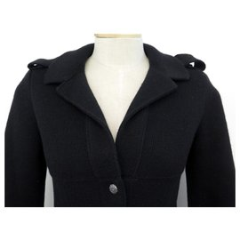 Chanel-NEW CHANEL P VEST27560 40 M BUTTONS CC IN BLACK CASHMERE SWEATER CARDIGAN-Black