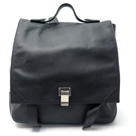 Proenza Schouler-PROENZA SCHOULER COURIER BACKPACK IN BLACK LEATHER BLACK LEATHER BACKPACK BAG-Black