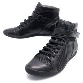 Christian Dior-NEW CHRISTIAN DIOR BASKETS SPRINT SHOES 39 CANVAS & LEATHER + BOX SHOES-Black