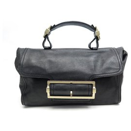 Givenchy-GIVENCHY HANDBAG IN BLACK LEATHER 30 CM BLACK LEATHER HAND BAG PURSE-Black
