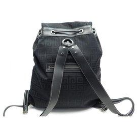 Givenchy-NEW GIVENCHY BACKPACK IN BLACK MONOGRAM CANVAS MONOGRAM NEW BACKPACK BAG-Black