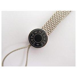 Hermès-NEW HERMES IPSO SADDLE CLOUD GRAY TELEPHONE MP3 BAG + BOX JEWELERY-Grey