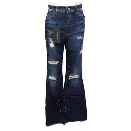 Dolce & Gabbana-NEW DOLCE & GABBANA JEAN QUEEN FTAZ PANTS8Z 40 It 36 FR S BLUE DENIM-Blue