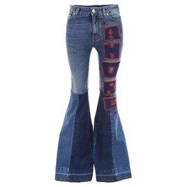 Dolce & Gabbana-NEW DOLCE & GABBANA JEAN AMORE FTA PANTS63Z 38 It 34 FR XS DENIM BLUE-Blue