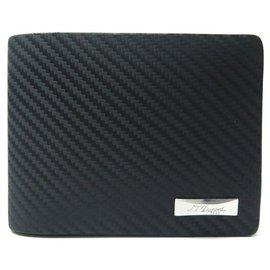 St Dupont-NEW ST DUPONT LINE D WALLET 170001 BLACK LEATHER WALLET CARD HOLDER-Black