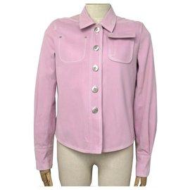 Louis Vuitton-VESTE LOUIS VUITTON T 40 M EN COTON ROSE BLOUSON MANTEAU PINK JACKET-Rose