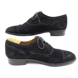 JM Weston-JM WESTON SHOES 478 8.5E 42.5 BLACK VELVET calf leather + SHOES TAPER-Black