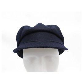 Loro Piana-NEW LORO PIANA CAP SIZE 58 NEW CASHMERE CAP NAVY BLUE CASHMERE-Navy blue