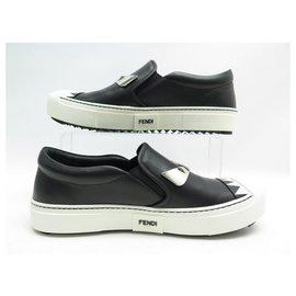 Fendi-NEW FENDI BASKETS MONSTER SLIP ON SHOES 8E6520 38.5 39 + BOX SHOES-Black