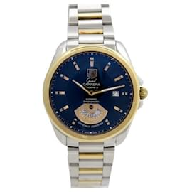 Tag Heuer-TAG HEUER GRAND CARRERA CALIBER WATCH 6 WAV515to 40 MM GOLD & STEEL WATCH-Silvery
