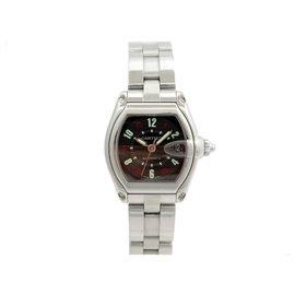 Cartier-CARTIER ROADSTER WATCH 2510 automatic 37 MM STEEL + STEEL WATCH BOX-Silvery