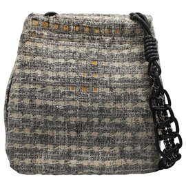 Chanel-TWEED MESSAGER-Gris