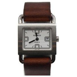 Hermès-Hermes Barenia Watch-Brown