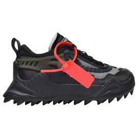 Off White-Odsy-1000 Sneakers in Black Grey-Black