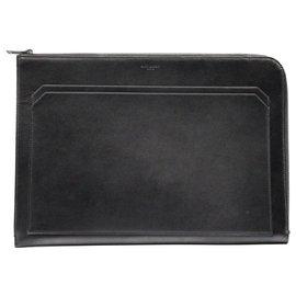 Yves Saint Laurent-Yves Saint Laurent Black Document Holder-Black