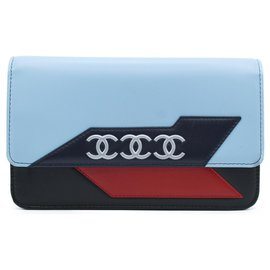 Chanel-Chanel Wallet on Chain-Bleu