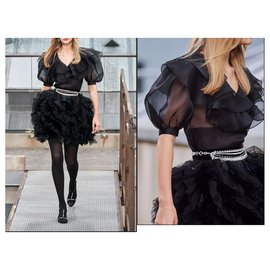 Chanel-Rare SS 2020 silk top blouse-Black