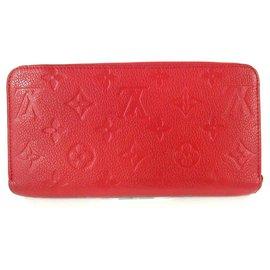 Louis Vuitton-Louis Vuitton Zippy Wallet-Red