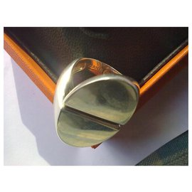 Hermès-INITIAL ring-Silvery