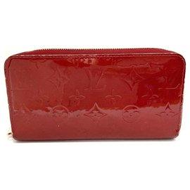 Louis Vuitton-Portefeuille zippy Louis Vuitton-Rouge