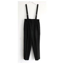 Comme Des Garcons-Comme Des Garcons Suspender Trousers-Black