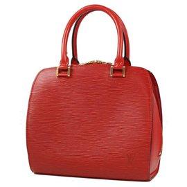 Louis Vuitton-Louis Vuitton Pont Neuf Womens handbag M52057 castilian red-Other