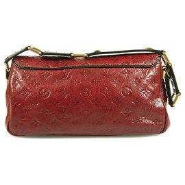 Louis Vuitton-Louis Vuitton Cerise Red Monogram Empreinte Leather My Deer Rebble Rubel Bag-Dark red