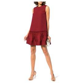 Roksanda-Roksanda Tanaga Shift Dress-Dark red