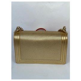 Chanel-Chanel cube boy bag-Golden