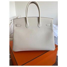 Hermès-Sac Hermès Birkin 35 neuf-Blanc