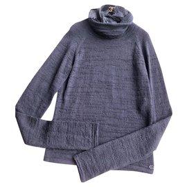 Chanel-Detachable CollarJumper-Grey