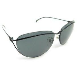 Chanel-Chanel sunglasses 4181 BLACK METAL + BLACK SUNGLASSES CASE-Black