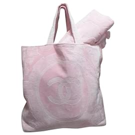 Chanel-Chanel shopper beach bag-Pink
