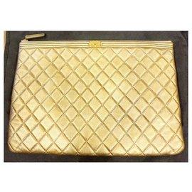 Chanel-Clutch / golden chanel bag-Golden