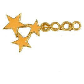 Chanel-CHANEL COCO star motif metal unisex brooch gold-Other