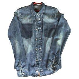 Les Petites-Shirts without pockets-Blue