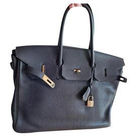 Hermès-Birkin 35-Marron foncé