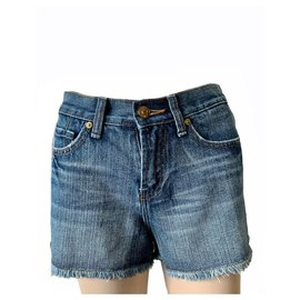 7 For All Mankind-Shorts-Blue